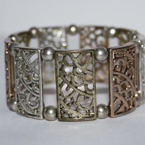 Pretty tri-colored bracelet silver rose, gold